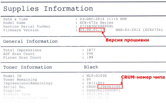 отчёт SCX-4727