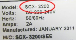 Узнать модель SCX-3200