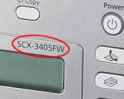 Модель SCX-3400, SCX-3405
