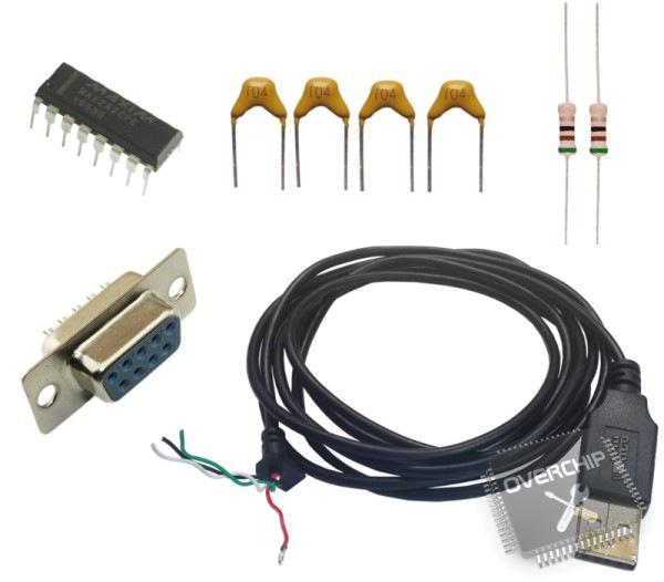 Основные компоненты для дебаг-кабеля
