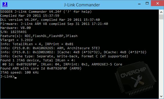 Лог JTAG ML-2160
