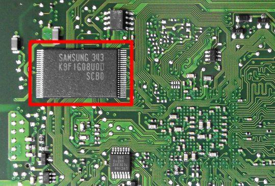 Микросхема NAND Flash на CLX-3305