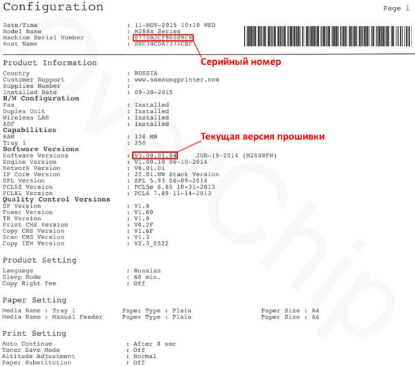 Configuration Report M2880